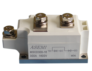 MSCD300-16,MSCD300-12,MSCD300-10,MSCD300-08,  ASEMI单臂共阳极整流模块