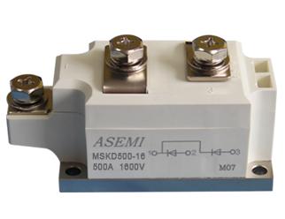 MSKD500-16,MSKD500-12,MSKD400-16,MSKD400-12,  ASEMI单臂共阴极整流模块