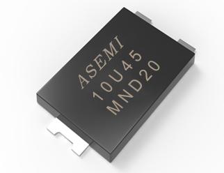 10U45.10U60.10U100,ASEMI低压降肖特基二极管,贴片小封装适用手机快充电器的高标准配置 10U45